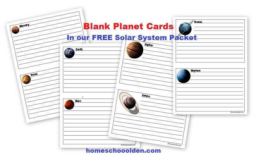 Free Planet Worksheets Blank
