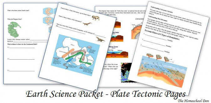 PlateTectonicWoksheets NotebookPages Plate Boundaries divergent convergent transform boundary