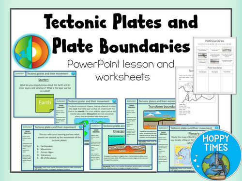 Plate Tectonics and Plate Boundaries Lesson by hoppytimes Teaching Resources Tes