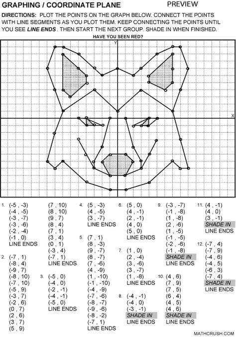 Additional graphing worksheet titles available in the subscribers area include Graph Paper Points on a