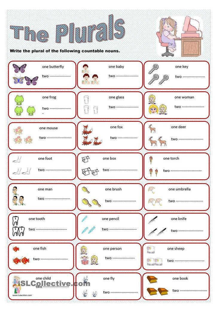 A simple worksheet to practise plurals including irregular plurals Plural nouns regular plurals with S ending Writing Elementary Pre intermediate
