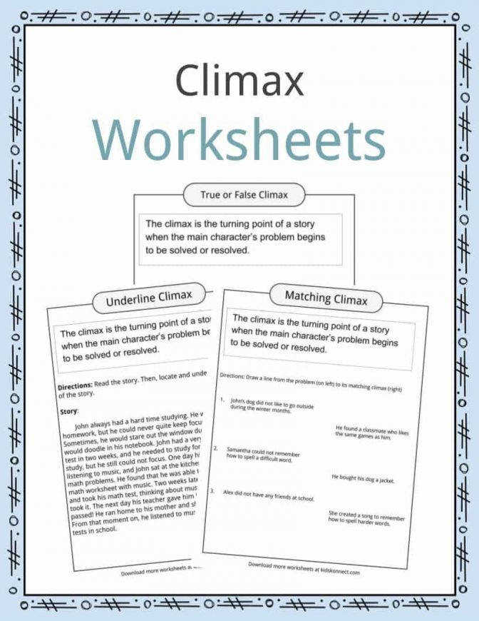 Literary Devices Worksheets Lesson Plans Resources Winter For 2 Year Olds Cli