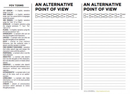 Writing Journal Worksheet – An Alternative Point of View PDF