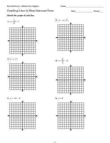 Worksheets Graphing Equations In Slope Intercept Form Worksheet graphing lines in y mx b form worksheet