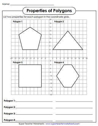 Polygon Printable Worksheets