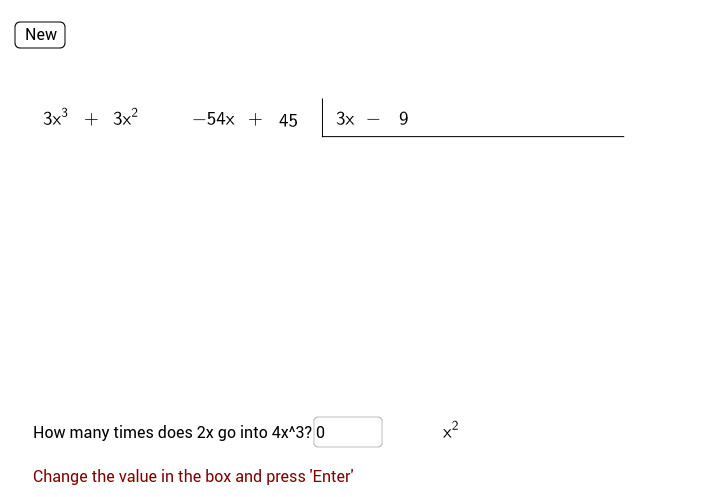polynomial long division View Worksheet
