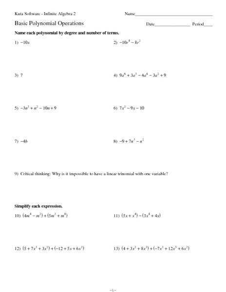 Eighth Grade Multiplying Monomials Worksheet 05 e Page Worksheets