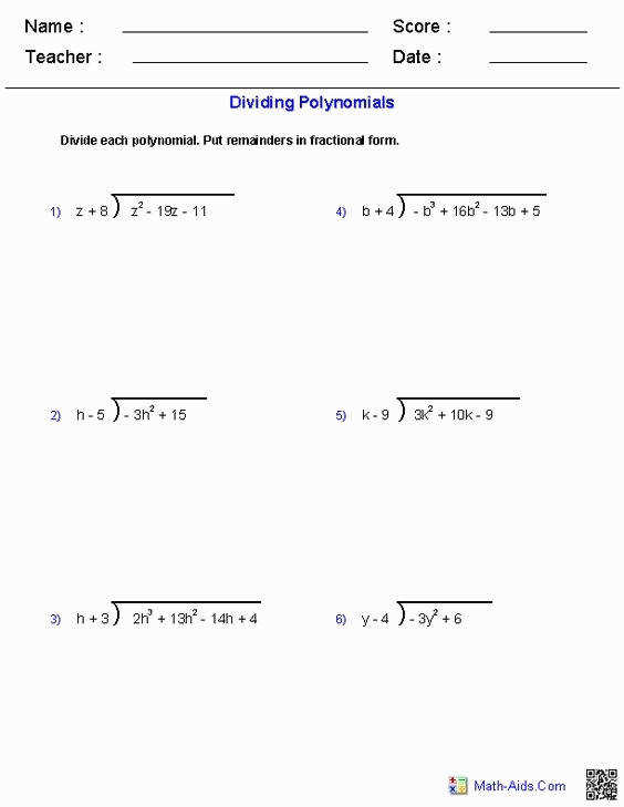 polynomials worksheet. Black Bedroom Furniture Sets. Home Design Ideas