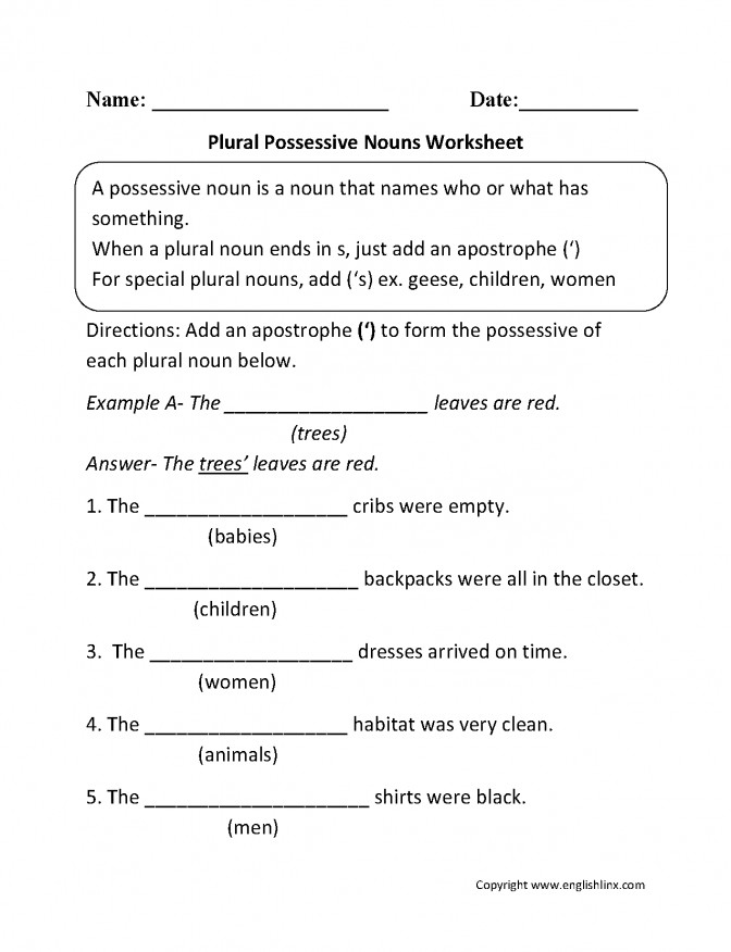Plural Possessive Nouns Worksheets Pinterest Noun Lesson Plan Esl 99d04c64f13de47c95fda1075ce Noun Lesson Plan Lesson Plan Medium