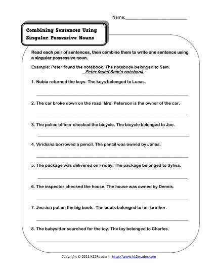 Possessive Plural Nouns Worksheet For 3rd Grade Worksheet Pages