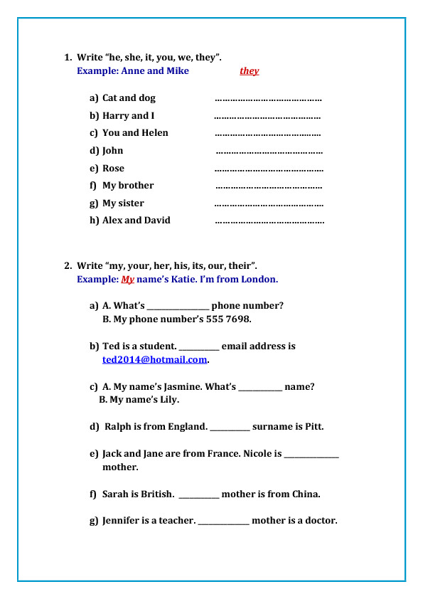 119 FREE Possessive Pronouns Worksheets Teach Possessive Pronouns With Style
