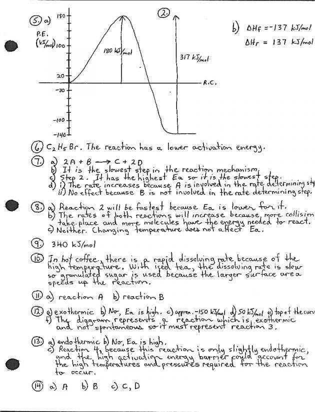 Potential energy diagram worksheet