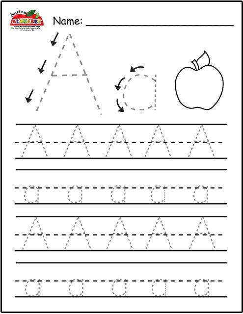Free Printable Alphabet Tracing Sheets For Preschoolers