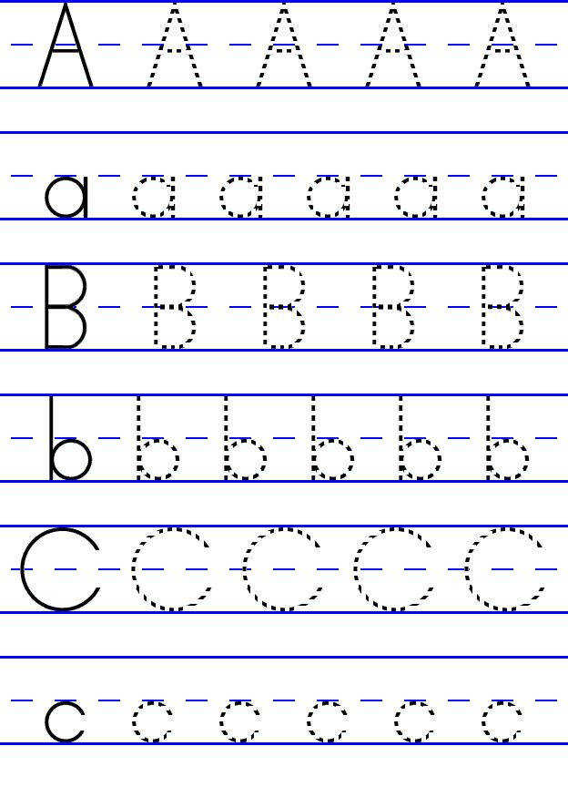 Free ABC worksheets for pre k printable as educational props in class or homeschooling Teach your kids learning alphabets in easy way