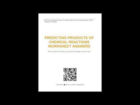 Predicting Products Chemical Reactions Worksheet Answers