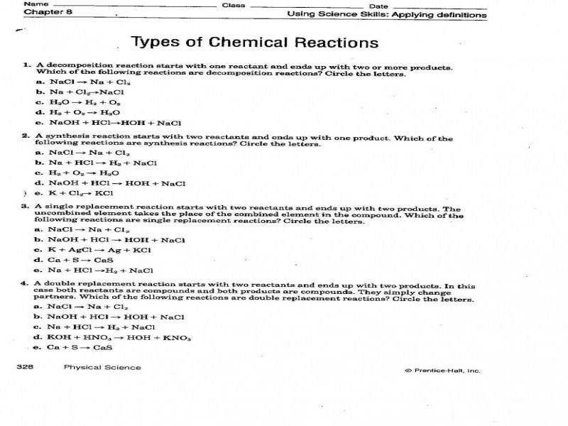 Worksheet 4 Single Replacement Reactions ABITLIKETHIS Source · Pleasing Quiz Worksheet Double Displacement Reaction Stud