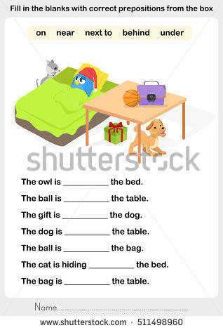 Fill in the blanks with correct prepositions preposition worksheet for education
