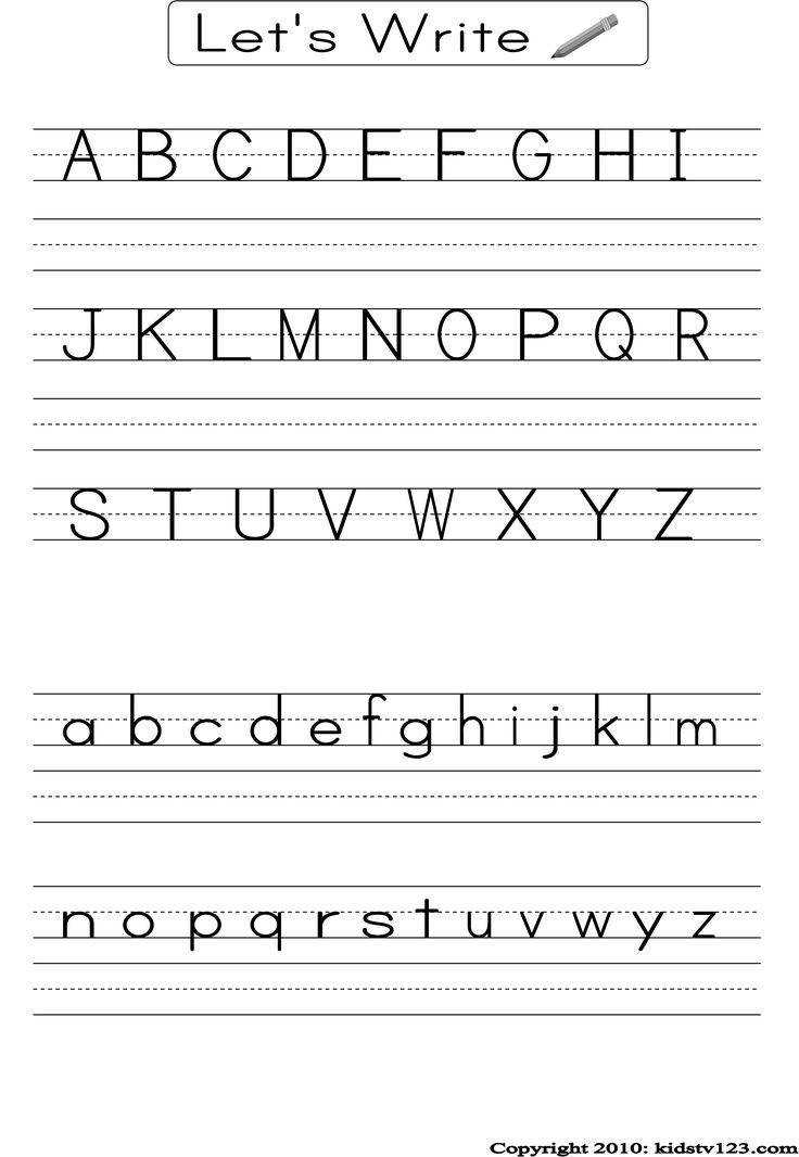 English alphabet worksheet for kindergarten that you can print for free Available in various template to print including tracing letters