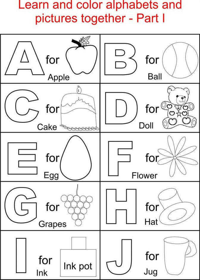 Printable Alphabet Coloring Pages Free Worksheets For Preschoolers Alphabets 2920 And Pict Free Printable Worksheets