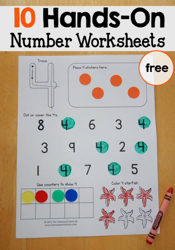 These free number worksheets for preschool reinforce a variety of skills with lots