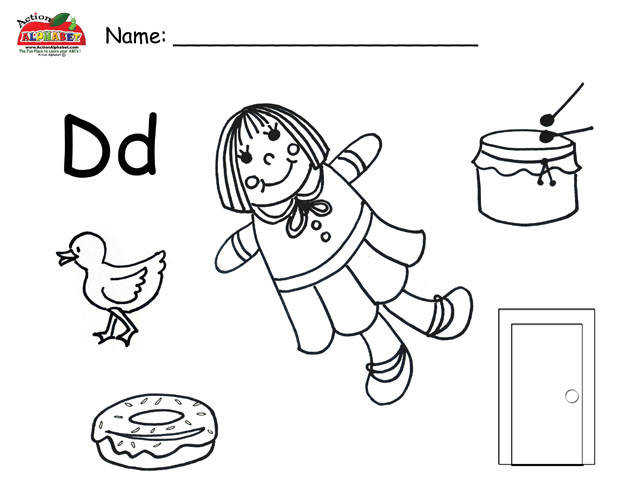 Letter D Objects Worksheet