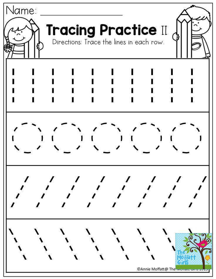 Tracing Practice TONS of printable for Pre K Kindergarten 1st Grade Tracing WorksheetsPreschool WorksheetsTracing