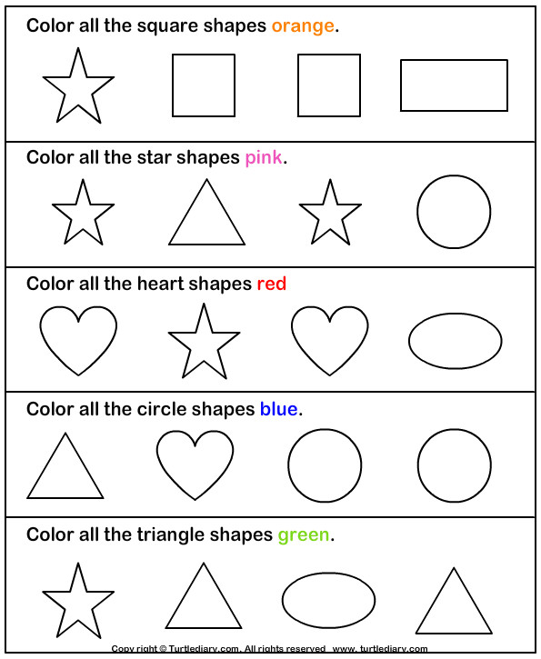 Color the Shape