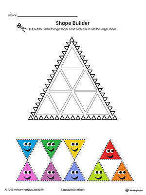 Geometric Shape Builder Worksheet Triangle Color