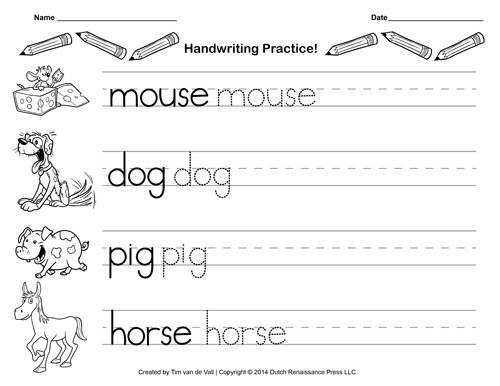 Free Worksheets preschool handwriting Preschool Writing Paper Template free handwriting practice paper