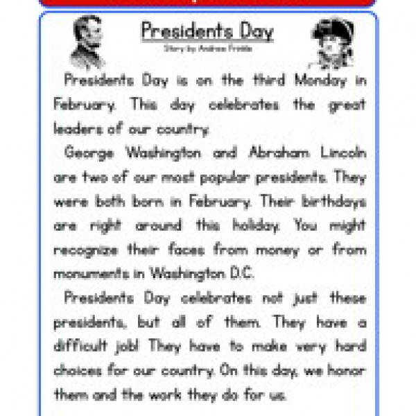 Presidents Day Worksheets SchoolFamily
