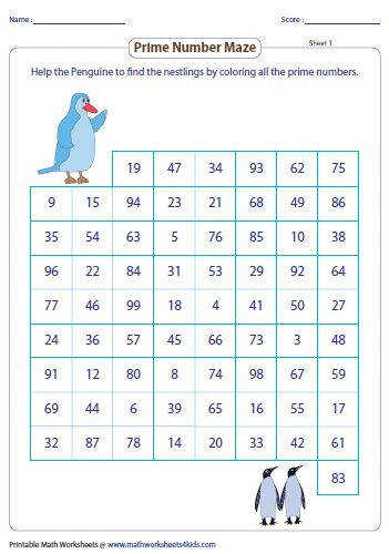 Exclusive themed charts and worksheets to understand and differentiate the prime and posite numbers are given here for kids with interactive activities
