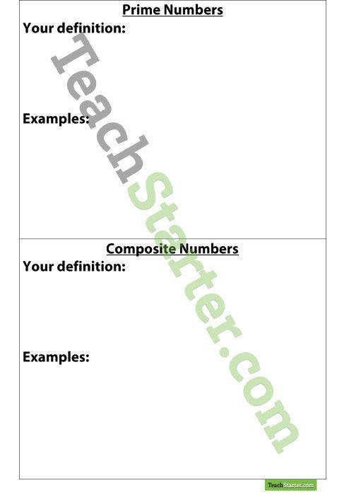 Free Download Prime and posite Number Worksheet