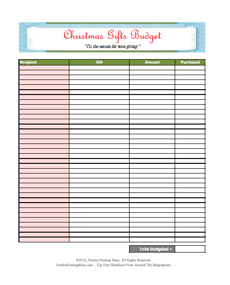 Christmas printable bud worksheet