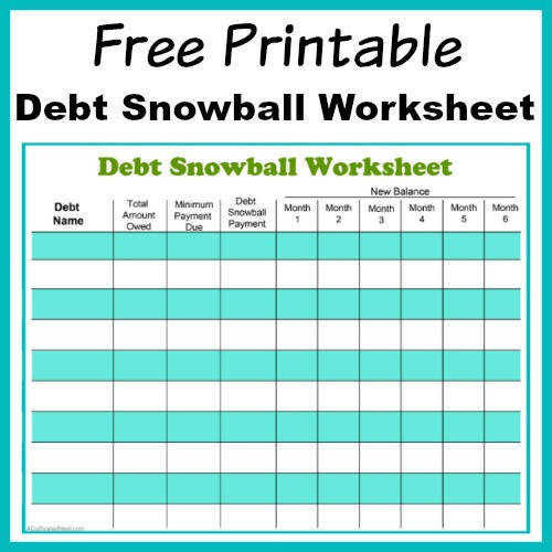 Free Printable Debt Snowball Worksheet Perhaps the best way to pay down your debt is