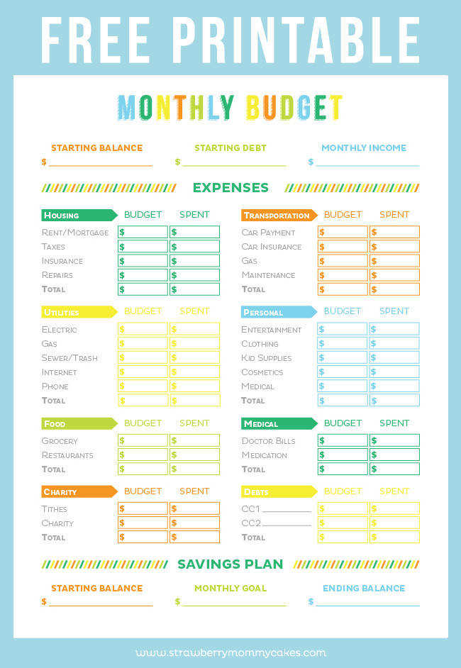 Get your finances in order with this FREE Printable Bud Sheet