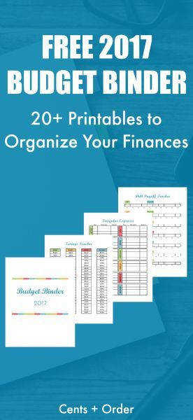 2017 Bud Binder Printable How To Organize Your Finances