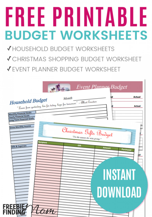 Printable Budget Worksheets  HomeschooldressageCom