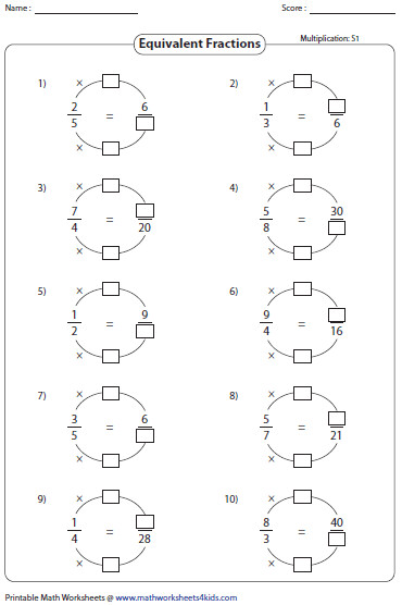 Learning Equivalent Fractions