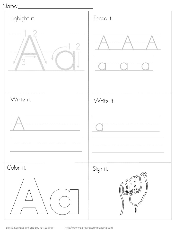 Printable Handwriting Pages Free