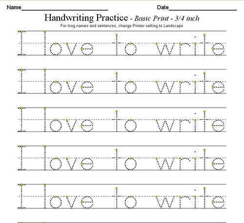 17 Best ideas about Free Handwriting Worksheets on Pinterest