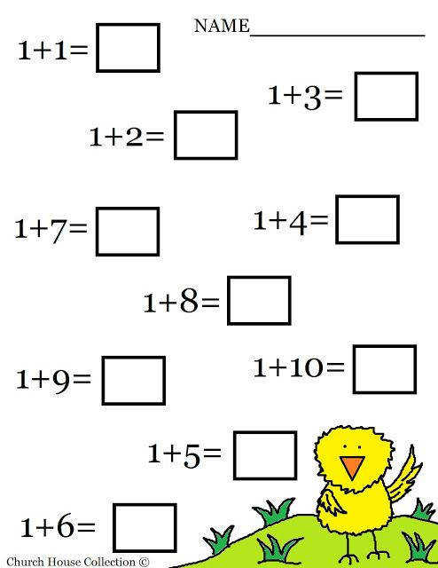 Kindergarten Math Addition Worksheets