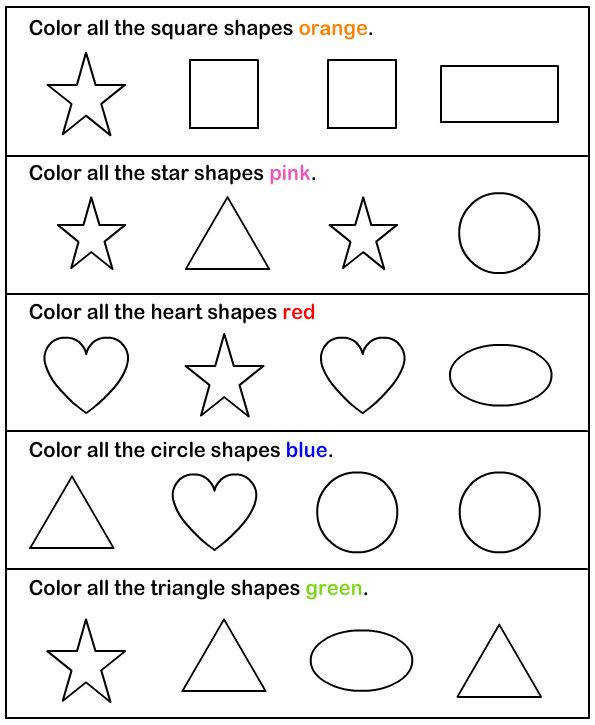 Shapes math Worksheets preschool Worksheets Printable Worksheets For KidsShapes