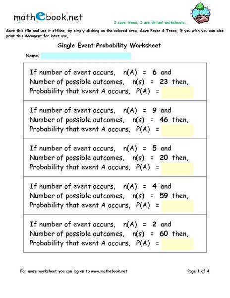 Best Solutions of Kuta Probability Worksheets In Form