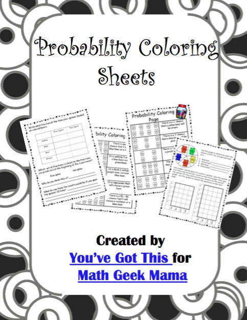 Introduce your kids to probability in a fun and easy way with this cute set of