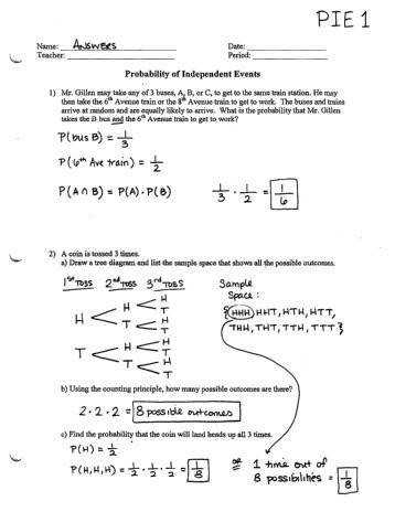 All Worksheets high school probability worksheets Probability Review Worksheet