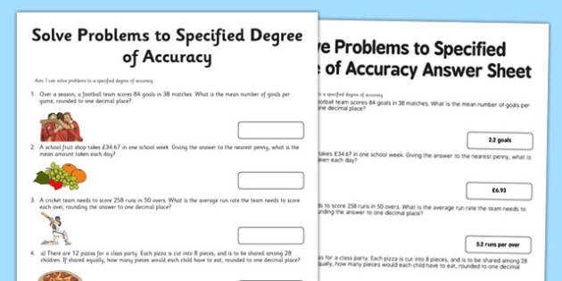 Year 6 Problem Solving Worksheets problems year 6 solve degree accuracy