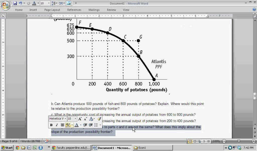 Production Possibility Frontier PPF Intro to Microeconomics