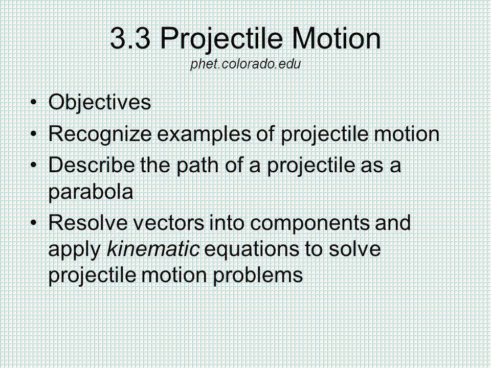 Two Dimensional Motion And Vectors Ppt Video line Download go to the projectile motion