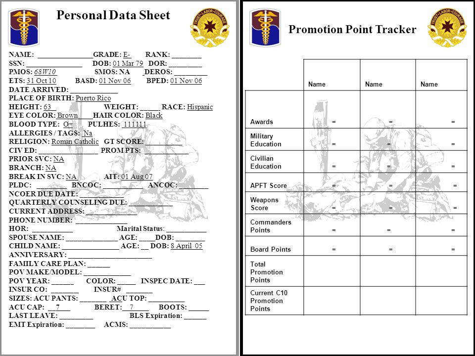 Promotion Point Tracker