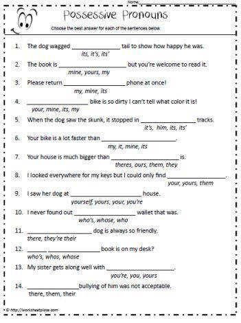 Best Ideas of Pronoun Worksheets 6th Grade Free In Sample